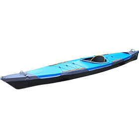 """Pakboats Quest 150 inc. Deck black hull/blue deck"""